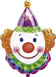 XL 25 Clown Head Super Shape Mylar Foil Balloon Circus Carnival Party