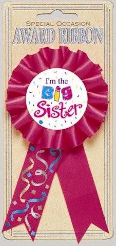 I'm The Big Sister Award Ribbon