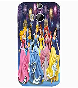 ColourCraft Lovely Cartoon Angels Design Back Case Cover for HTC ONE M8