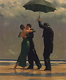 14in x 17in Dancer in Emerald by Jack Vettriano - Stretched Canvas