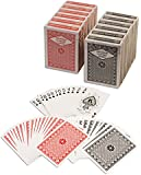 Diamond Playing Cards: 12 Decks (6 Red, 6 Black) Poker Size Regular Index Plastic Coated Playing Cards by Da Vinci, Made In Taiwan