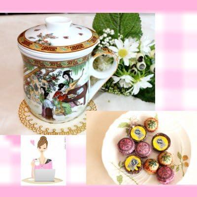【マグカップ&プーアル茶】送料無料 中国茶 茶器 ダイエット