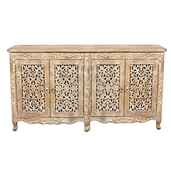 Moti Furniture Carter Buffet White Antique 4 Doors