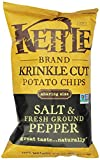 Kettle Krinkle Cut Chips, Salt & Fresh Ground Pepper, 8-Ounce Bags (Pack of 12)