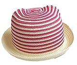 LOTUS LIFE キッズ ベビー 帽子 選べるサイズ&カラー あご紐付き くまみみ ボーダー (49~51cm ローズ) ランキングお取り寄せ