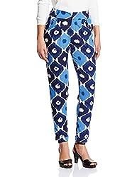 Tokyo Talkies Women's Slim Fit Casual Trousers (TTP0000127_Navy Blue_32)