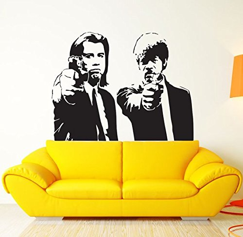Customwallsdesign Pulp Fiction Film Wall Art Decal Décor-Poster adesivo in vinile, stampa