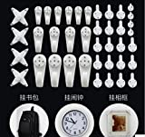 Ellami Multi Function Invisible Non-Trace Hardwall Drywall Hanger Hook for Picture Wedding Photo Frame Clock Bag Mirror with Case (40-Hook)