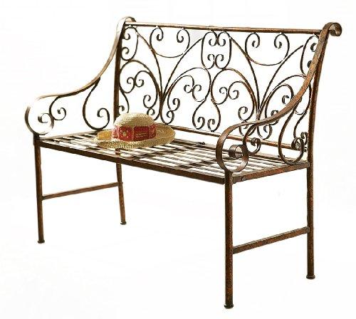 Midwest CBK Antique Gold Scroll Garden Bench