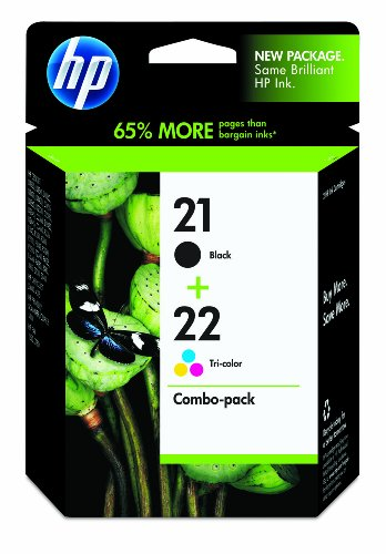 HP 21/22 Ink Cartridges, Combo Pack