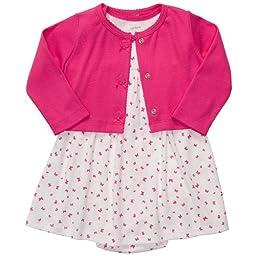 Carter\'s Baby Girls\' 2 Pc Dress Set - Pink Butterfly - 6 Months