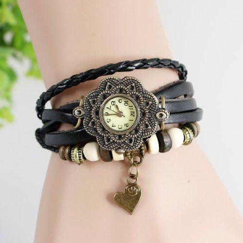 Xidaje Burst Sell Weave Wrap Around Bracelet Bangle Girl Vintage Watch Leather Band front-398000