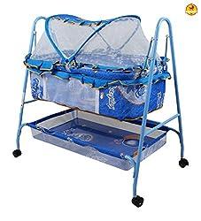 Baybee BabyNest Swing Cradle (Blue)