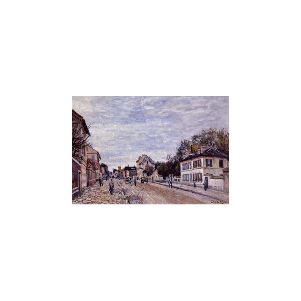 Oil Painting Street Scene in Marly Alfred Sisley Hand
