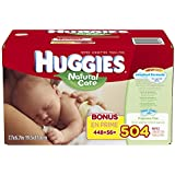 Huggies Natural Care Baby Wipes, Refill, 504 Count