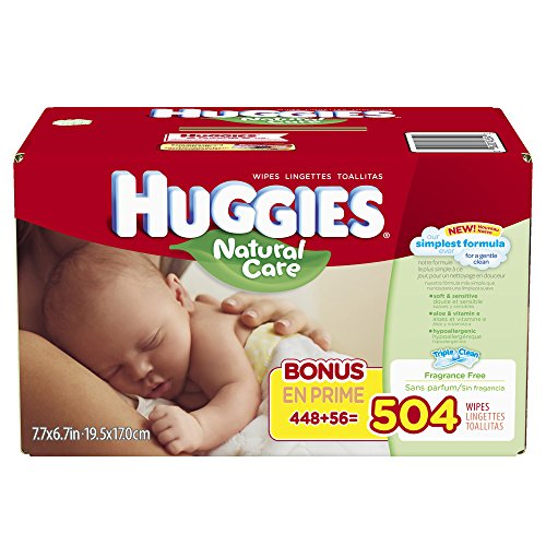 Huggies Natural Care Baby Wipes, Refill, 504 Count - 1