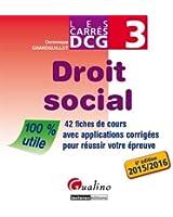 DCG 3 : Droit social