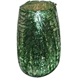 AKP Glass Decorative Candle Stands - 2 Inch X 3 Inch, Green