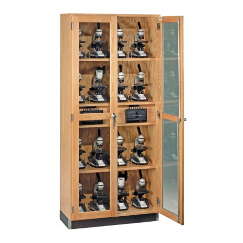 "Diversified Woodcrafts 373-3616 Oak Wood Micro-Charger Glass Door Cabinet, 36"" Width X 84"" Height X 16"" Depth"
