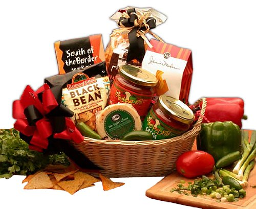 Organic Stores Gift Baskets Spicy Foods and Snacks Gift Basket, Lets Spice it up