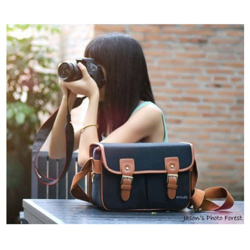 Sanlise(TM) Black Waterproof Waterproof Vintage Canvas Camera Bag Messenger Bag for DSLR Camera and Lens Canon EOS 600D 60D 550D 7D 500D 1100D Nikon D90
