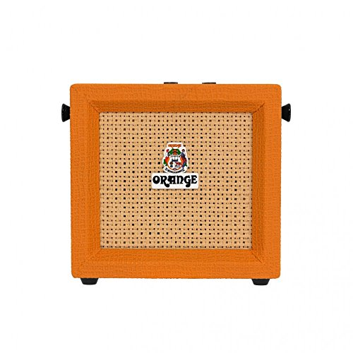 Orange Micro Crush Pix | Ultra-Compact Basket Weave Speaker Grilled 3-Watt Guitar Combo Amplifier With Built-In Tuner And Overdrive