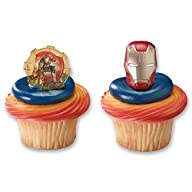 DecoPac Cupcake Rings, Iron Man 3, Tw…