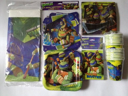 Find Discount Teenage Mutant Ninja Turtles Deluxe Birthday Party Pack for 16