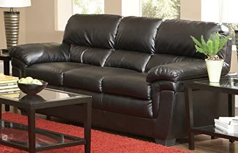 Coaster Home Furnishings 502951 Casual Sofa, Black