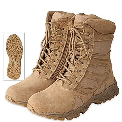 Rothco 5357 Forced Entry Desert Tan Tactical Combat Boots w/ Zipper, Size 3