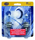 HELLA H83140282 H4 12V 100/80W High Performance Xenon Blue Halogen Bulb Set