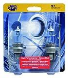 HELLA H83140282 H4 12V 100/80W High Performance Xenon Blue Halogen Bulb Set