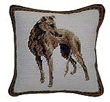 Elegant Decor Needlepoint Pillow, Greyhound