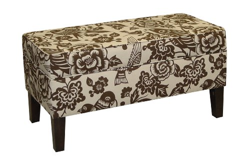Skyline Furniture Modern Upholstered Storage Bench in Canary Earth at Sears.com