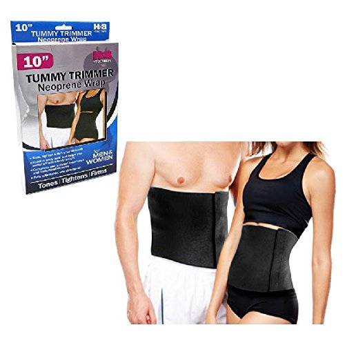 Tummy Fat Burning Slimming Belt-Best Waist Trimmer for Men and Women,10in, Black, One Size Fits All, Lose Weight Fast and Tone Abs, Support Lower back, Helps Lose Post Baby Weight