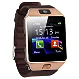 GeekEra Bluetooth Smart Watch Wristwatch with Camera Sync to Android IOS Smart Phone Samsung S5 / Note 2 / 3 / 4,nexus 6,htc,sony,huawei and Other Android Smartphone(Golden)