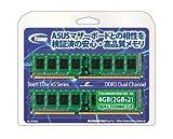 TEAM DDR3 1333MHz CL9 メモリーモジュール 2GB x 2枚 TED34096M1333C9DC-AS