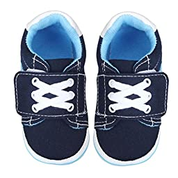 Voberry® Autumn Infant Toddler First Walkers Cotton Shoes Soft Bottom Sneaker (S, Deep Blue)
