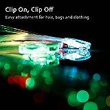 Etekcity LED Color Changing Fiber Optic Hair Barrettes Party Favors, 15 Pack