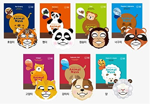 Berrisom ベリーサム アニマル マスク7枚セット (Animal Mask Pack 7 Sheet) 海外直送品