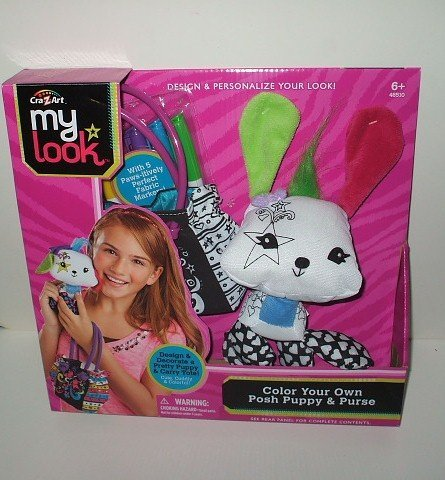 Cra Z Art My Look Color Your Own Posh Puppy & Purse - 1