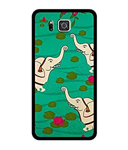 Chnno 2d ELEPHANT Printed Back Cover For Samsung Galaxy Alpha