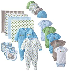 Gerber Baby-Boys Newborn 19 Piece Newborn Essentials Gift Set, Blue, 0-3 Months
