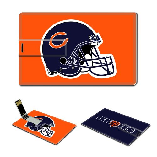 4gb Usb Flash Drive Usb 2.0 Memory Stick Sports Nfl Chicago Bears Logo Credit Card Size Customized Support Services Ready National Football League Super Bowl Team Playoffs Mvp Champion Player Peyton Manning Brett Favre (orange) Picture