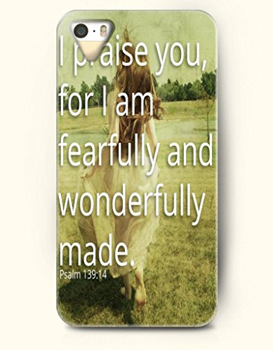 Iphone 5 5S Case Oofit Phone Hard Case ** New ** Case With Design I Praise You For I Am Fearfully And Wonderfully Made Psalm 139:14- Bible Verses - Case For Apple Iphone 5/5S