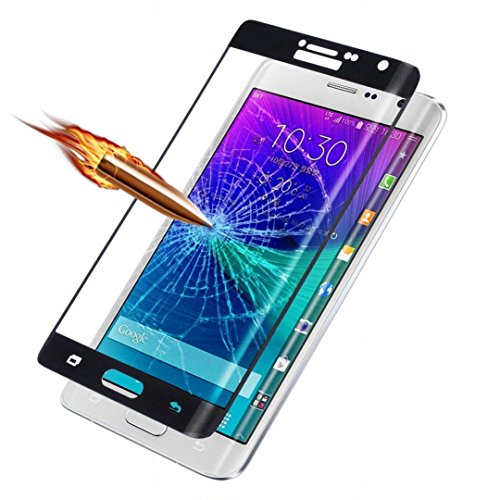 Note Edge Screen Protector,ChYu@Full Coverage Premium Tempered Glass Film Protector for Samsung Galaxy Note Edge N9150 (Black) (Note Edge Tempered Glass compare prices)