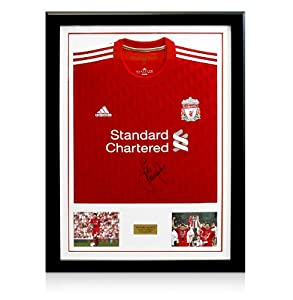 Framed Jamie Carragher Signed Liverpool Shirt - 2011/12 by A1 Sporting Memorabilia
