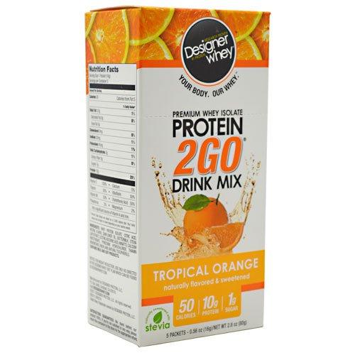 Designer Protein Premium Whey Isolate Protein 2Go Tropical Orange front-1035124