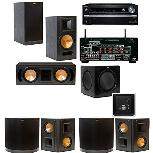Klipsch Rb-61Ii 7.1 Home Theater System-Onkyo Tx-Nr838 7.2 Channel- Black