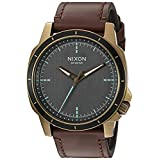 Nixon Men's 'Ranger Ops' Quartz Leather Watch, Color:Brown (Model: A9142373-00)
